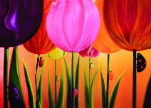 Postcard Tulpen